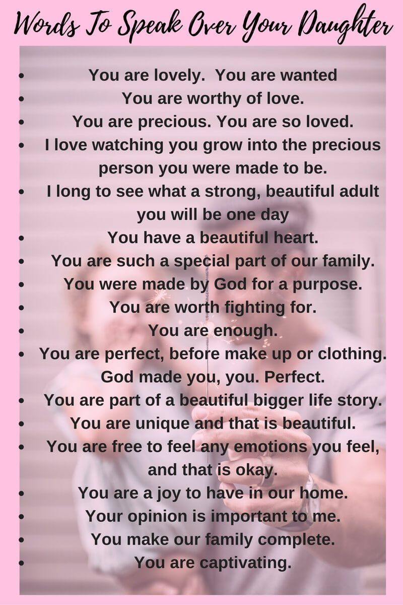 Words for Daughter - Positive Affirmation Words to Share ...