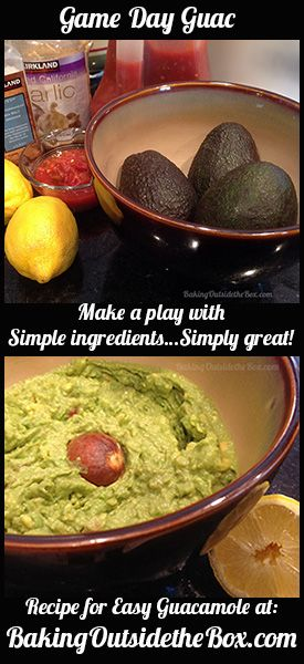 Game Day Guac Easy Guacamole Recipe Baking Outside The Box Guacamole Recipe Easy Easy Guacamole Recipes