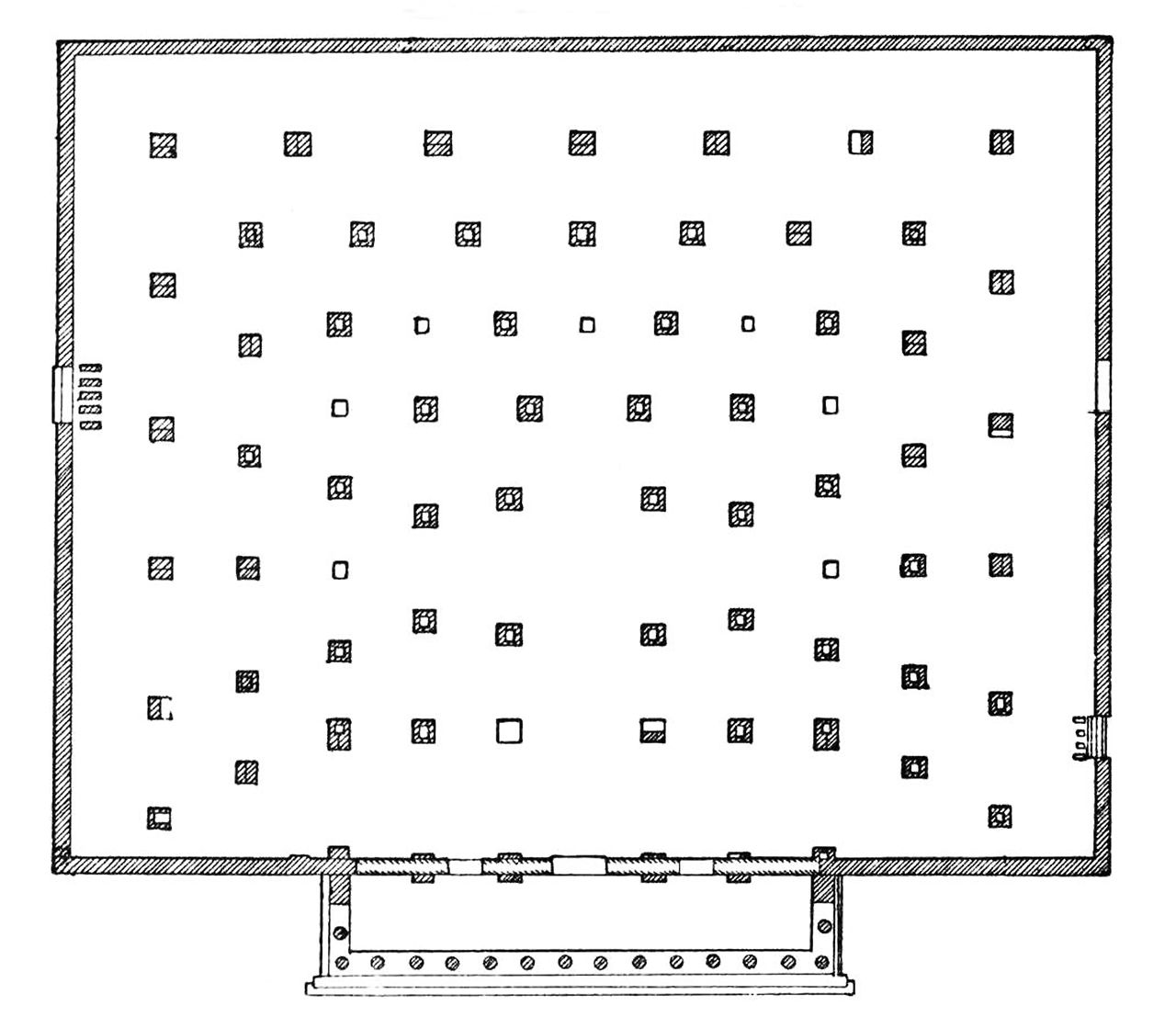 Plan Of The Thersilion, Megalopolis, Greece, 370 BCE