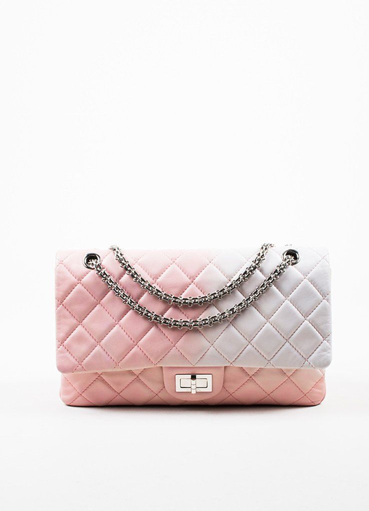 2c0800c1db90ab Chanel Pink and White Leather Ombre Degradé