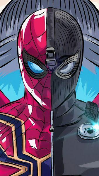 Eiserne Spinne Stealth Anzug Spider Man Far From Home 8k 7680x4320 Hintergrundbild Superhelden Malvorlagen Marvel Zeichnungen Avengers Hintergrundbild