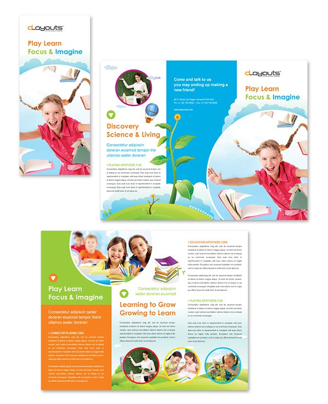 The gallery for education leaflet samples for Educational brochure templates