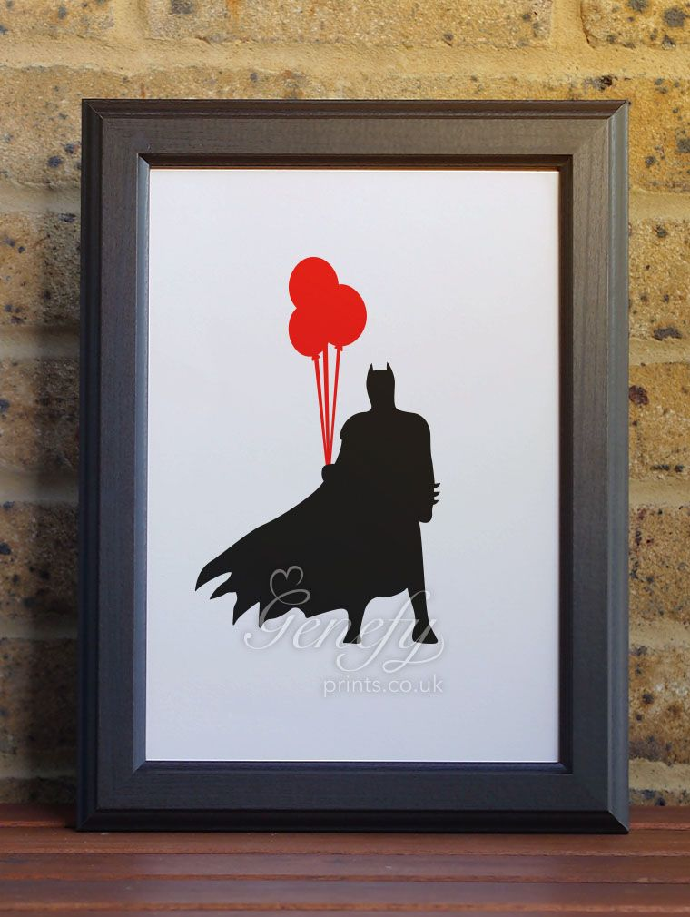 Batman silhouette poster wall art wwwgenefyprintscouk