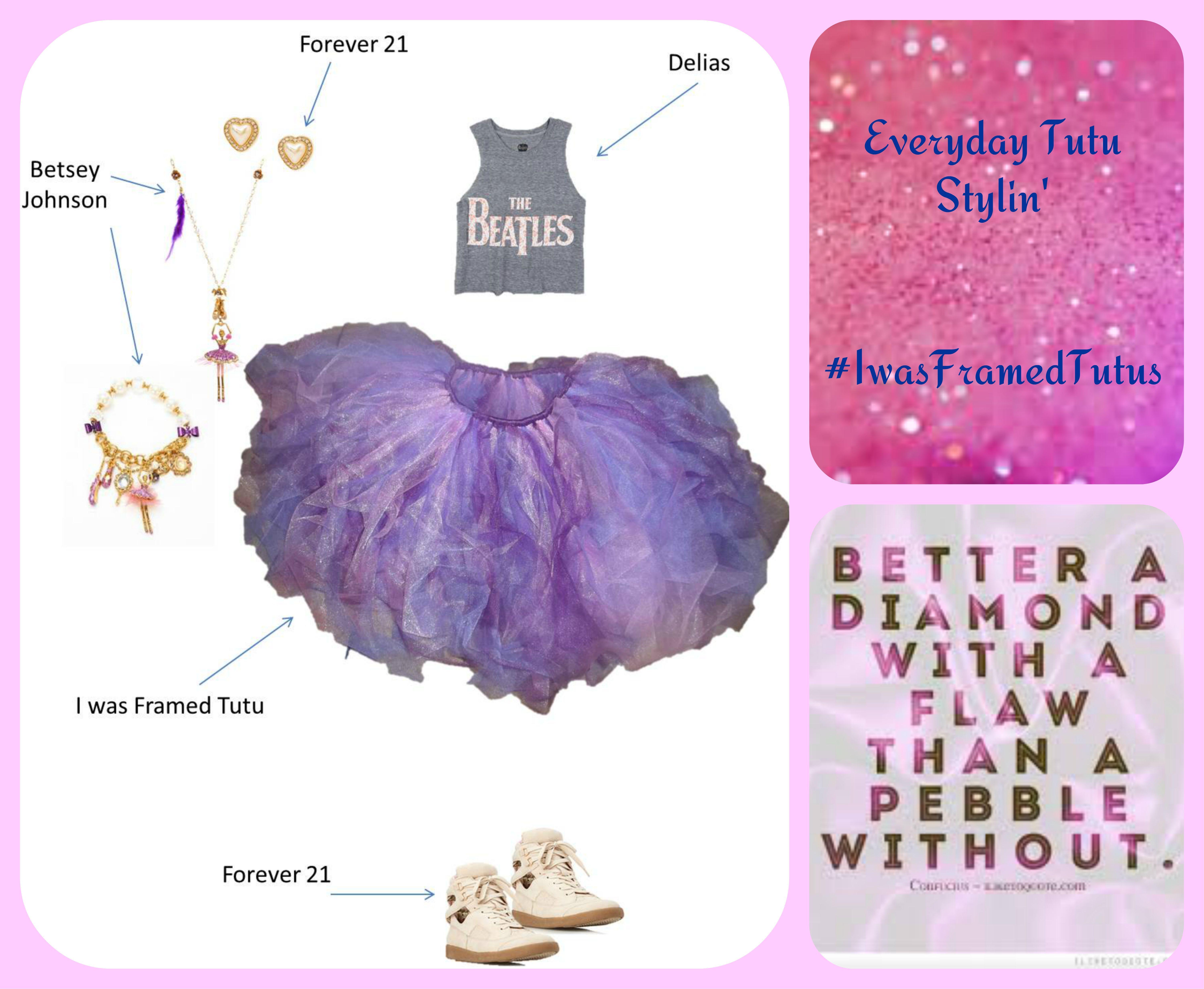 Everyday Tutu Stylin\' w/ I was Framed Tutu Lavender, Pink, and Plum ...