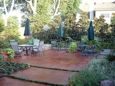 brown painted cement patio in the back 40 i wish pinterest