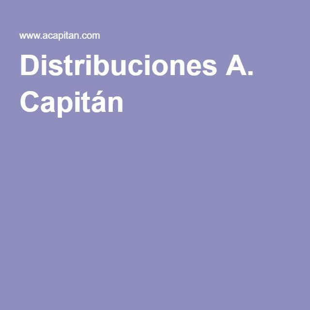 Distribuciones A. Capitán