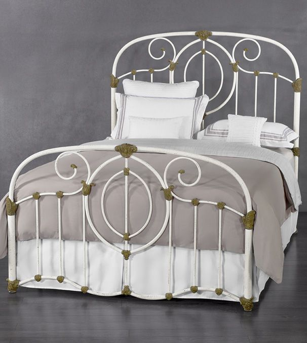 Wesley Allen Adair Iron Bed Iron Bed Traditional Style White Antique Custom Iron Bed Bed Wrought Iron Beds