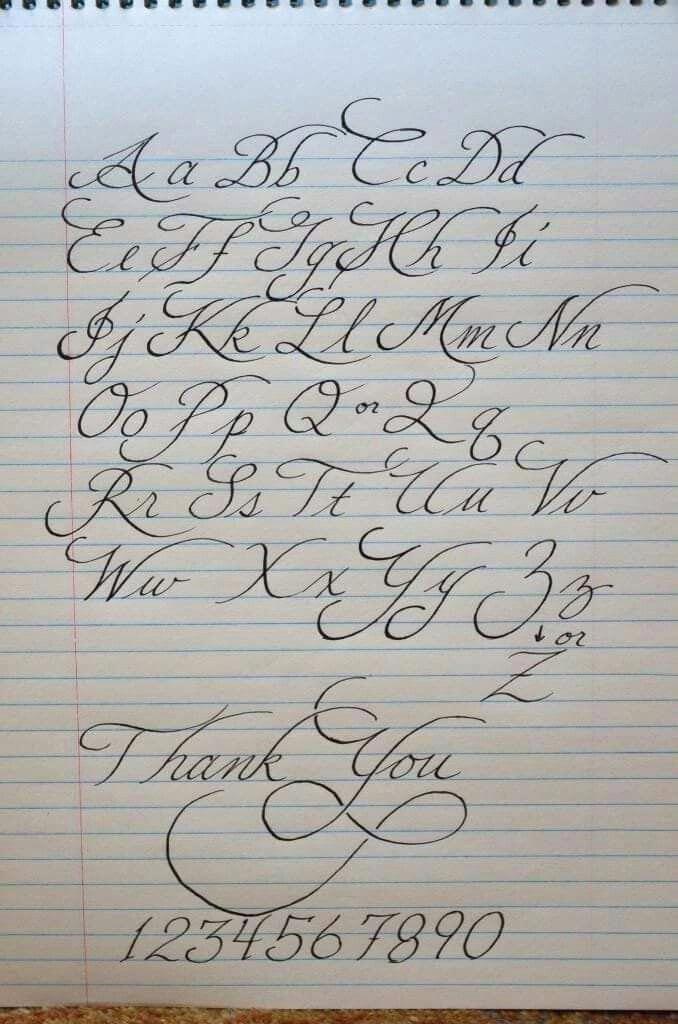 Handlettering Alphabet Calligraphy Alphabet Calligraphy