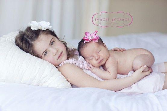 Newborn Older Sibling Pose