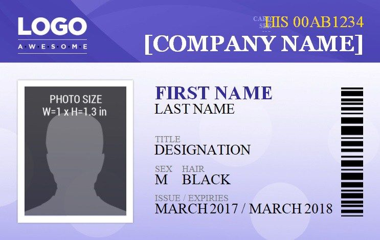 ID Badge Template 5 Free Id Word Templates