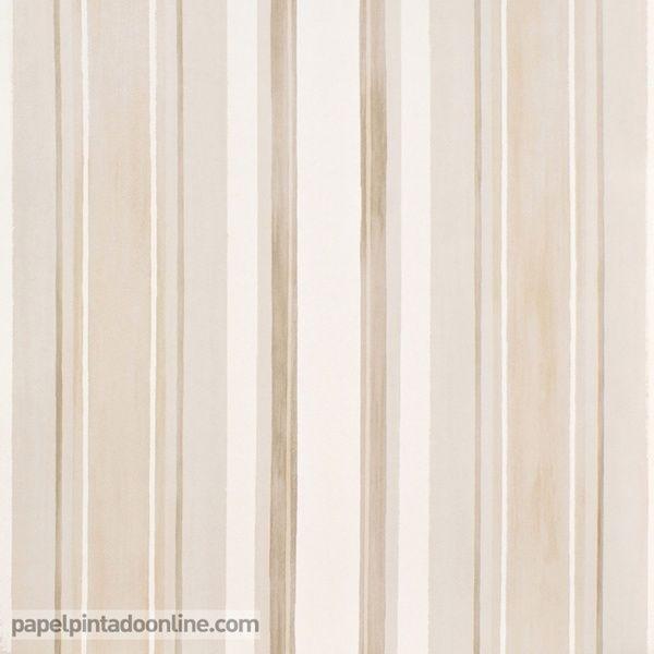 Papel Pintado Infantil Babies 10146 con rayas verticales en ...