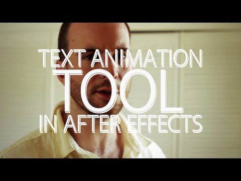 The Text Animation Tool - Adobe After Effects tutorial - YouTube