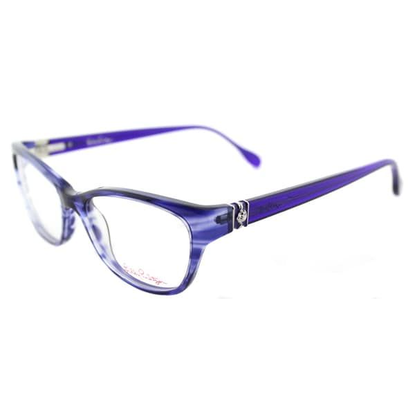 208bdeb6b4 Lilly Pulitzer Holbrook IN Indigo Plastic Cat-Eye 52mm Eyeglasses ...