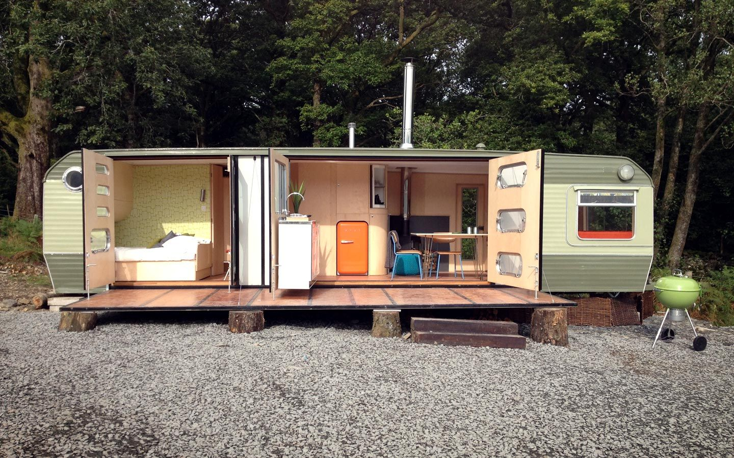 William Hardie Design - George Clarke\'s caravan | Small spaces ...