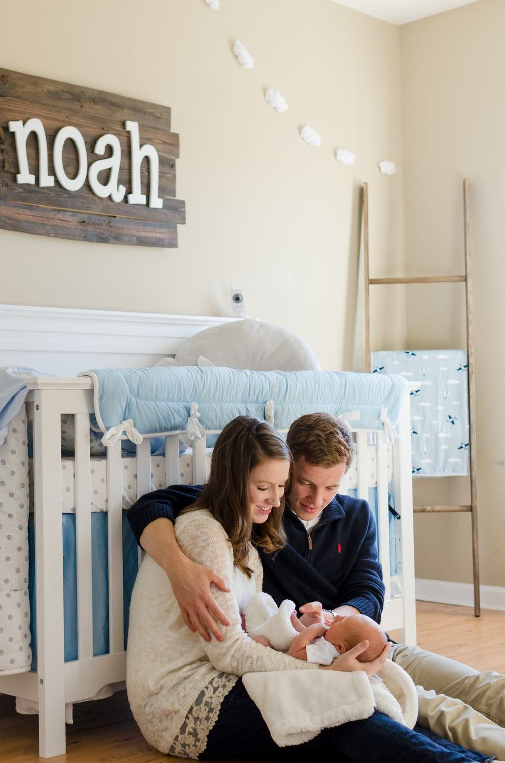Sweet With Newborn Baby In Nursery During Home Lifestyle Session Murfreesboro Tn