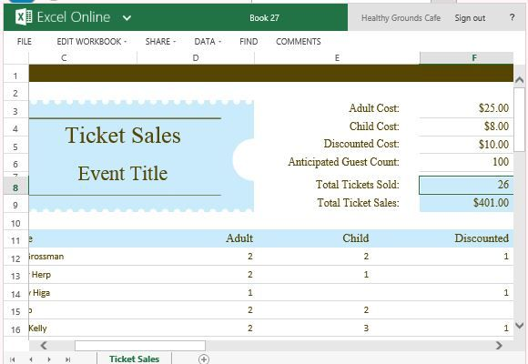Ticket Sales Tracker Template For Excel Sales Tracker Sales