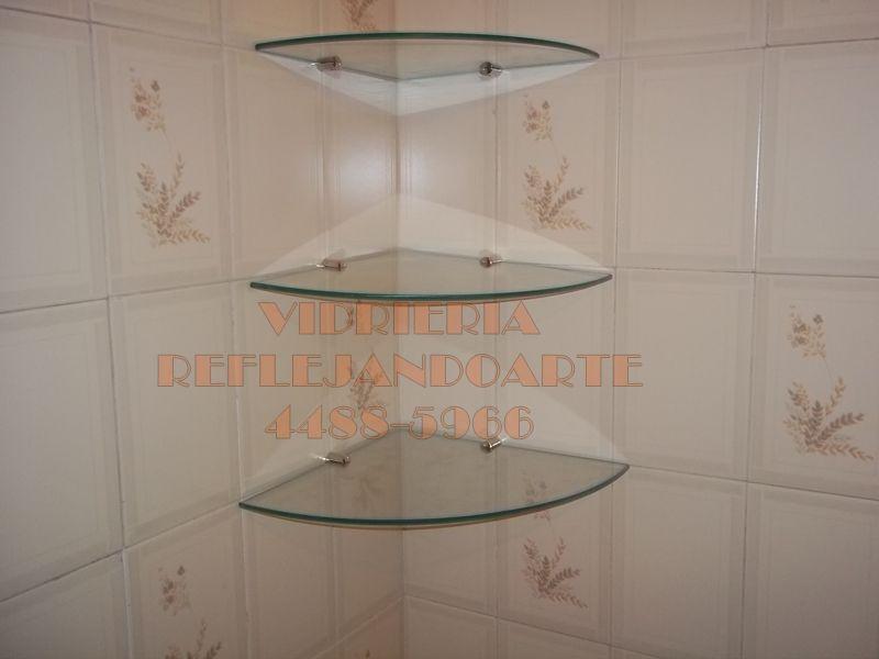 Kit de esquinero 3 estantes de 30 x 30 cm con grampas - Estantes para banos pequenos ...