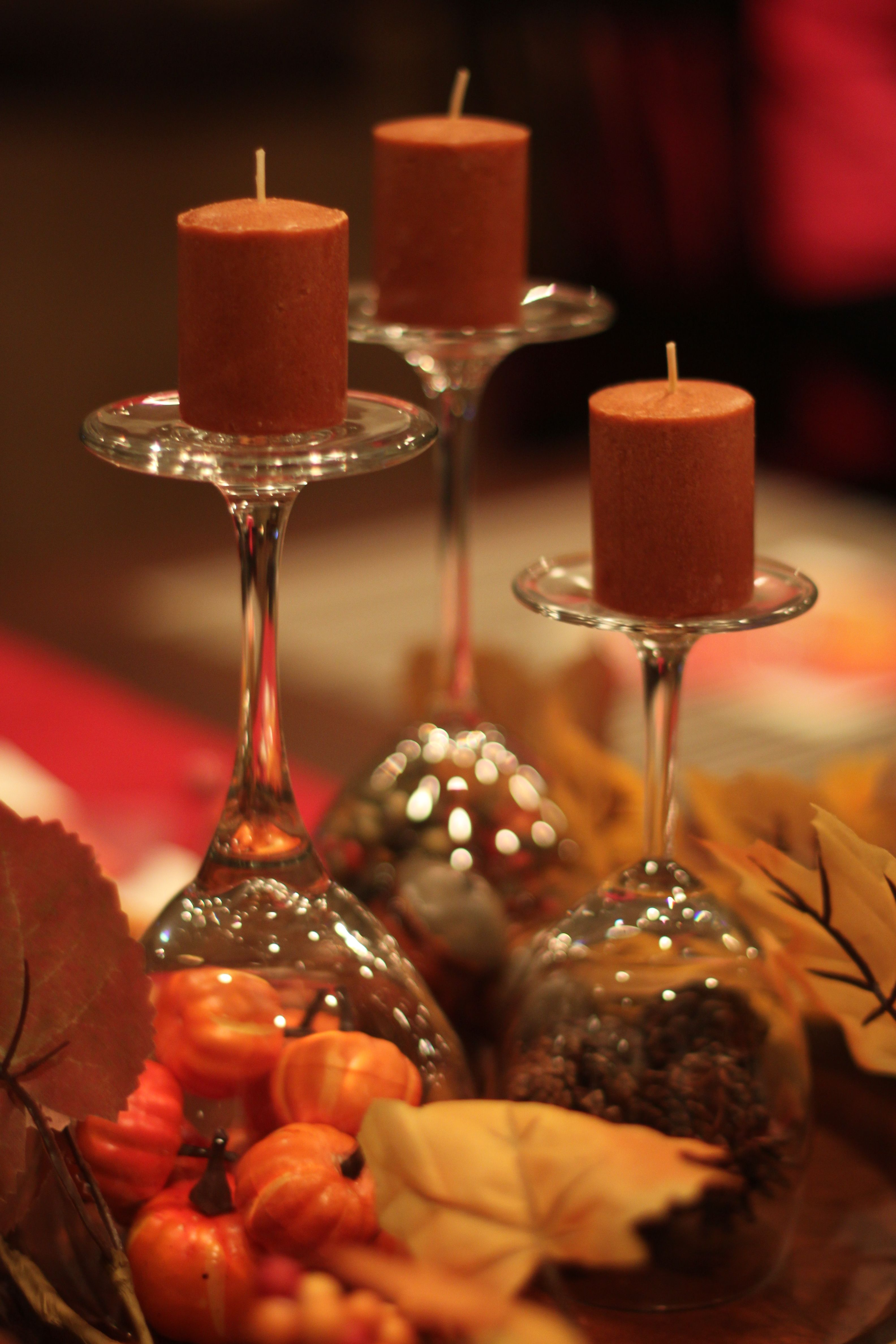 Thanksgiving Table Decorations Made With Dollar Tree And Walmart Finds Wine Gla Thanksgiving Table Decorations Thanksgiving Table Settings Thanksgiving Table