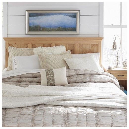 country lodge king headboard  pine  home styles  target