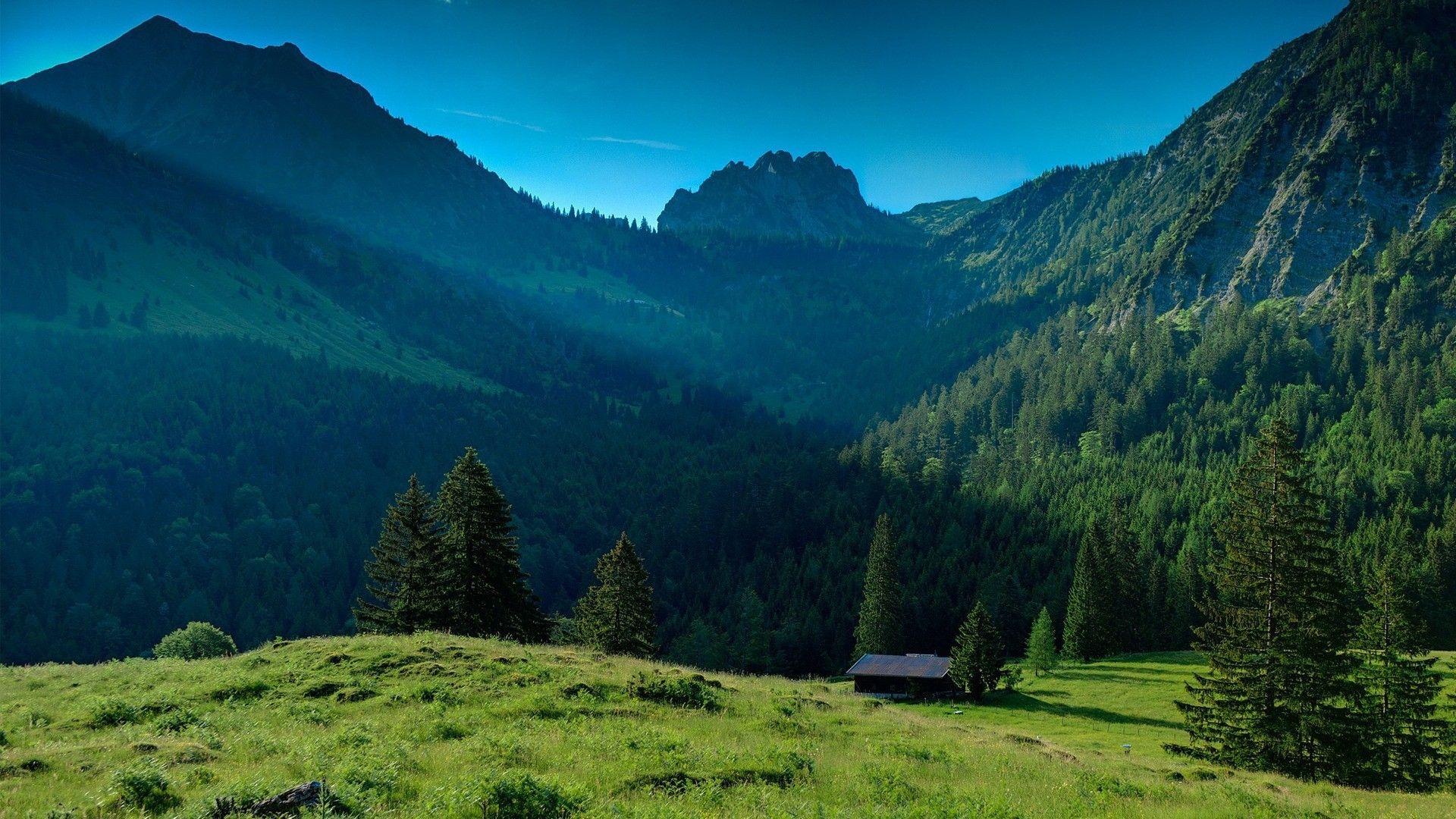 1920x1080 Wallpaper Mountains Grass Nature Landscape Paesaggi