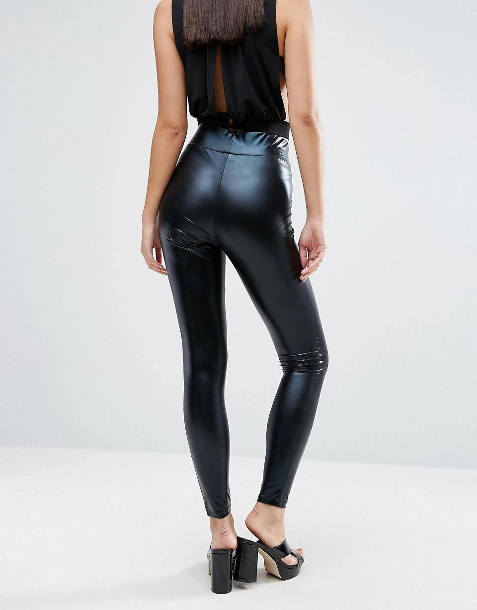 discount collection the cheapest authentic DESIGN high waisted wet look leggings in 2019 | now | Wet ...