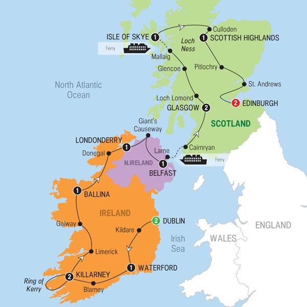 Brendan Vacations Best Of Ireland And Scotland Preview - Where is ireland