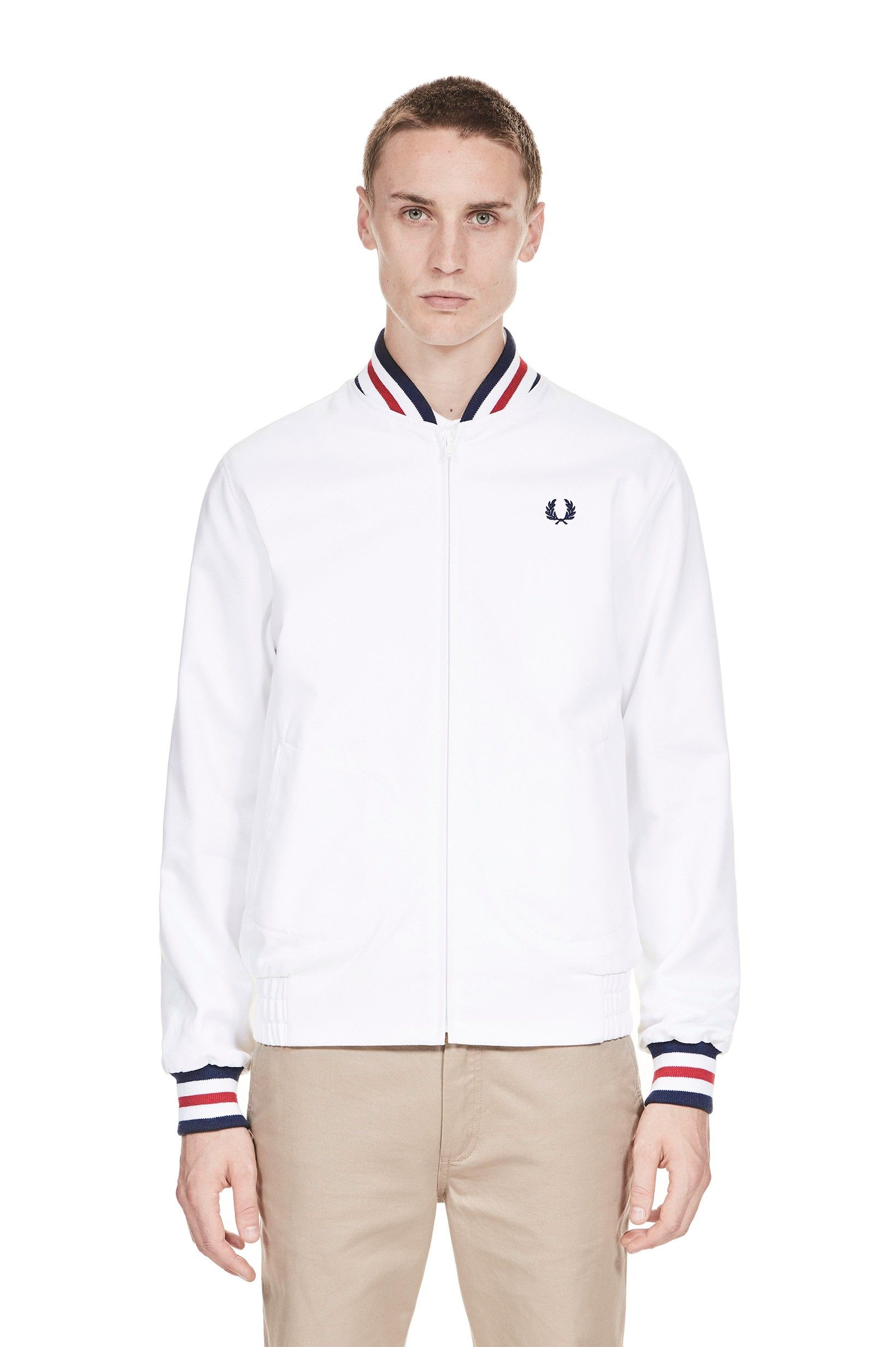 0eb7b79726 From lightweight track jackets to snorkel parkas. Fred Perry - Reissues Made  in England Original Tennis Bomber White