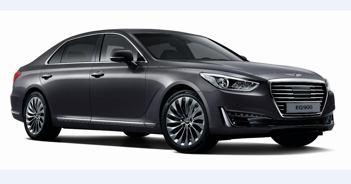 The 2017 Genesis G90 Is Your First Look At Hyundai S New Luxury Brand Pictures In 2021 Hyundai Sedan Hyundai Genesis