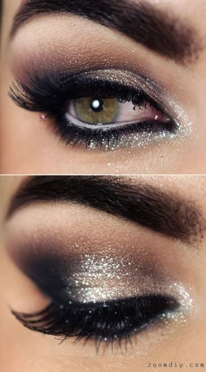 939e5fb59c7 14 Overwhelming Smokey Eye Makeup Looks and Tutorials - Pretty Designs.  Voeg een beetje glitter ...