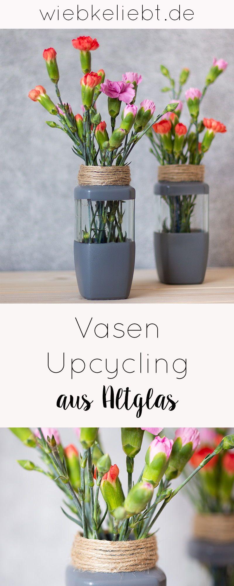 Vasen Upcycling aus Altglas im Skandi Look | DIY Blog | Do-it-yourself Anleitungen zum Selbermachen | Wiebkeliebt