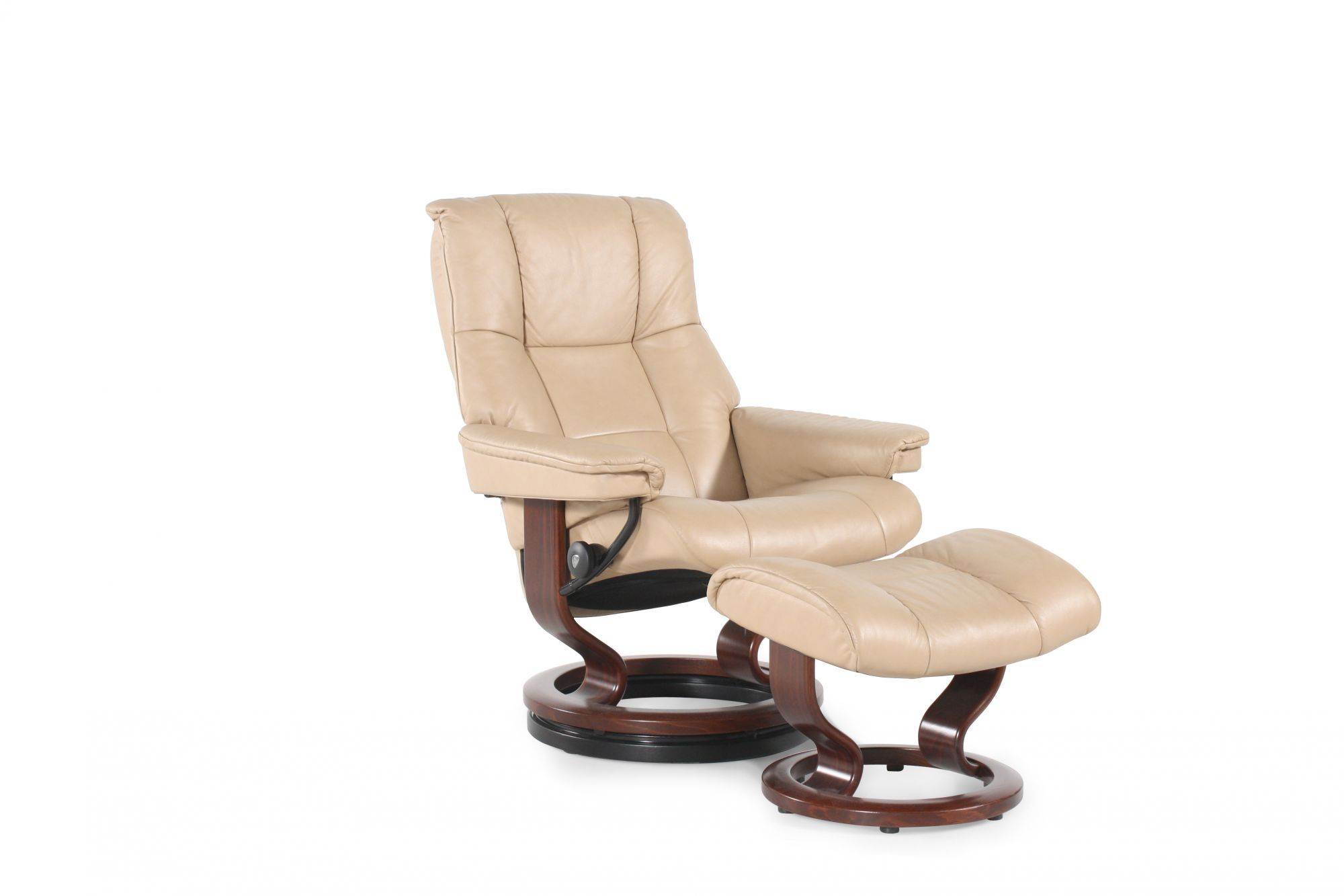 Ekornes Mayfair Paloma Sand Chair And Ottoman | Mathis Brothers Furniture