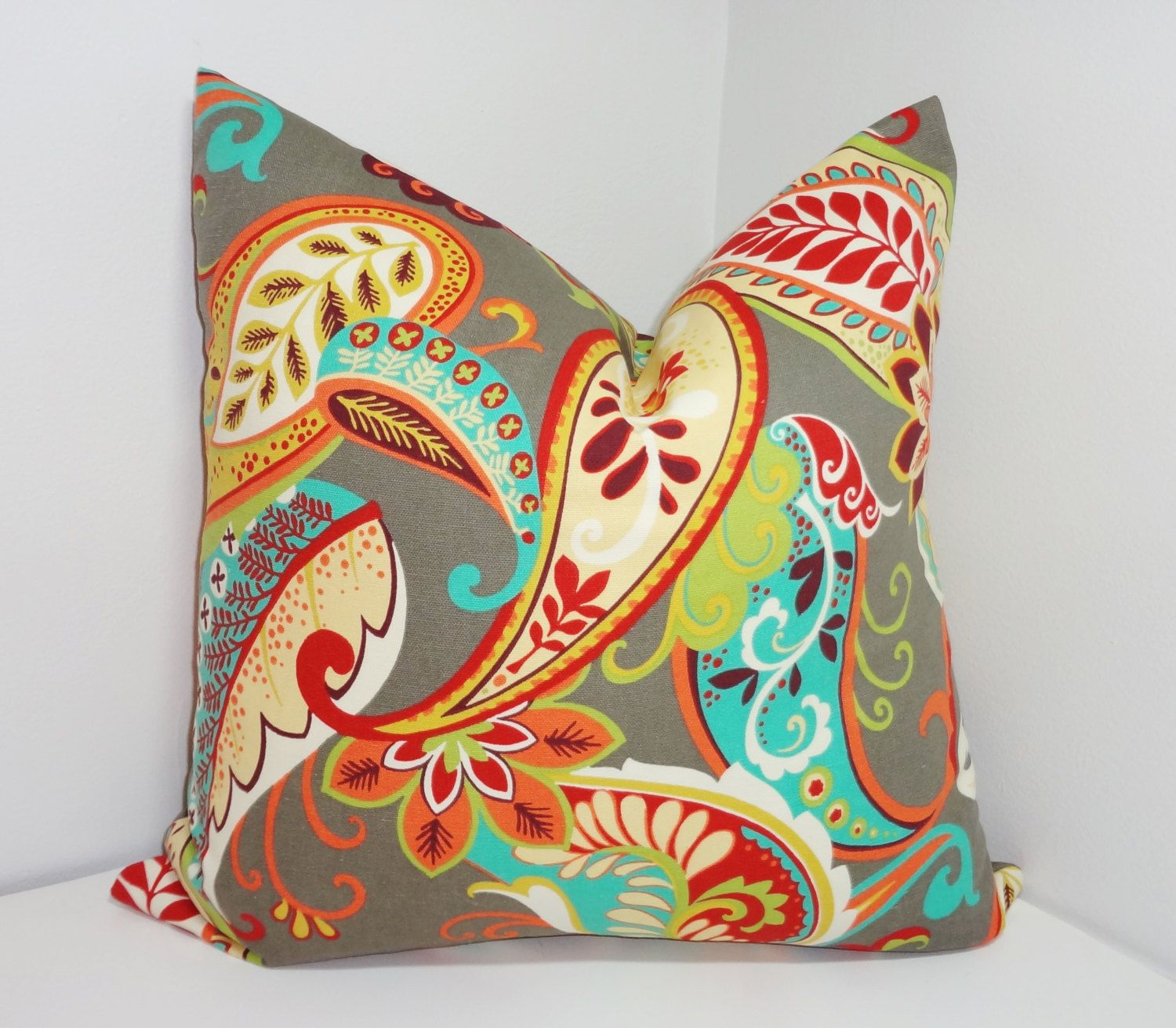 Fall sale covington whimsy multicolor paisley print pillow covers