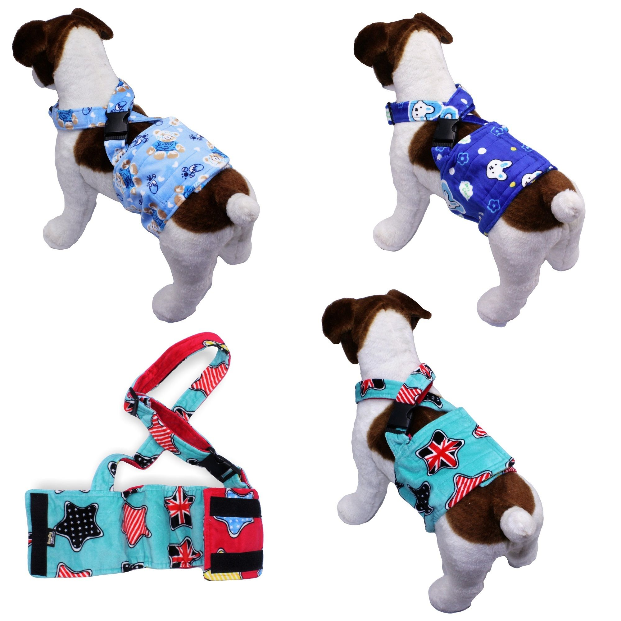 Fleece Dog Belly Band Diaper Male Wrap Washable Reusable With