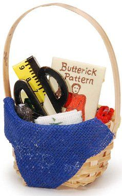 1.5 Inches Miniature Fairy Garden Dollhouse Basket