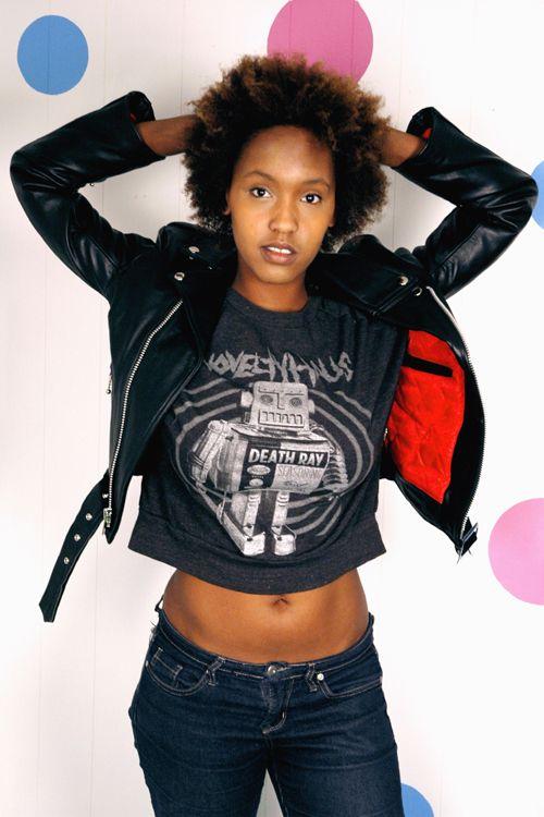 Sexy black punk girl