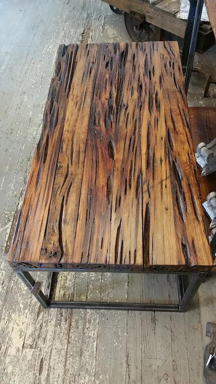 pecky cypress coffee table | tampa bay salvage | architectural