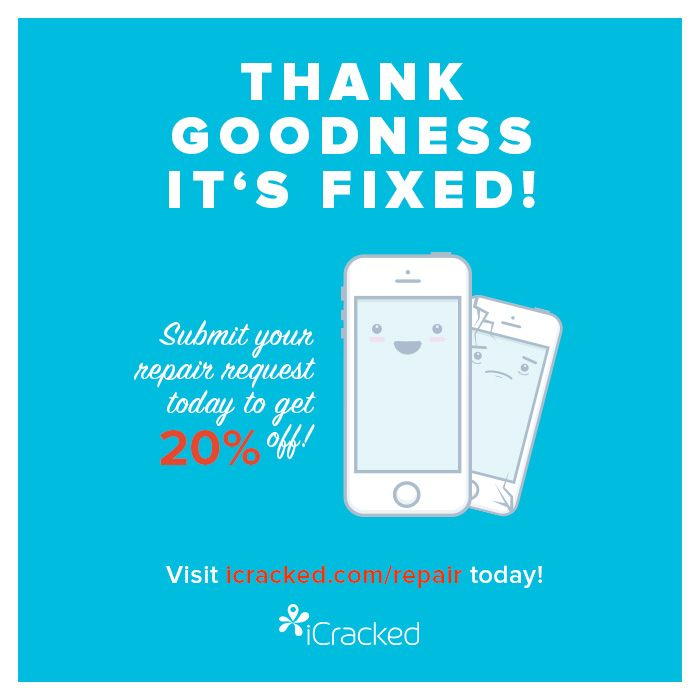 Tgif Thank Goodness It S Fixed Submit A Repair Request Today To Receive 20 Off The Repair Http Icracked Com Repai Iphone Repair Repair Cell Phone Screen