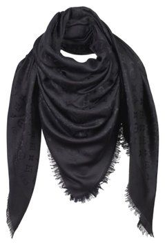 3ccd08bf2 Get the lowest price on Louis Vuitton Black Monogram Scarf and other  fabulous designer clothing and accessories! Shop Tradesy now