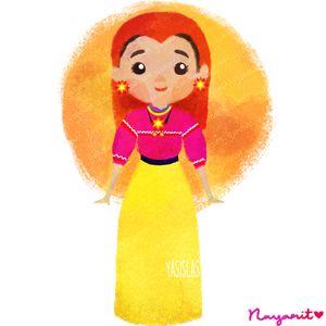 Mxico colores y diseos de sus trajes tpicos Nayarit  dibujos