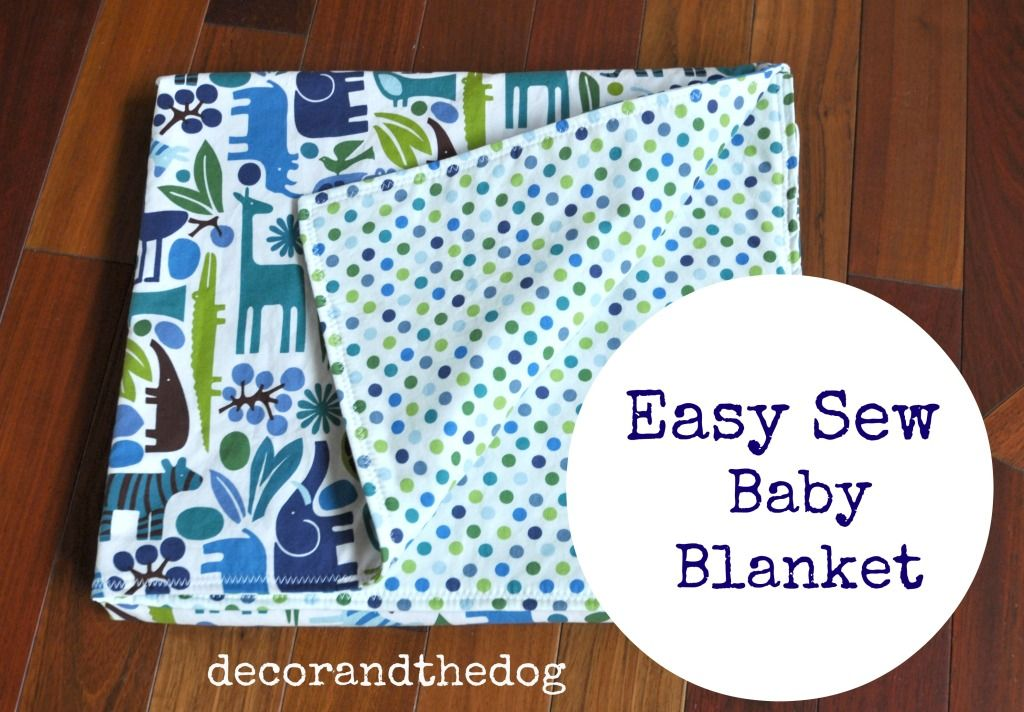 Easy Baby Gifts How to sew baby blanket, Easy sewing