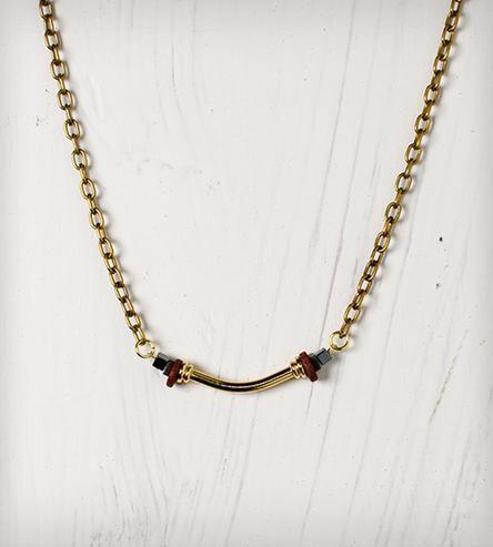 Pyrite Noodle Necklace