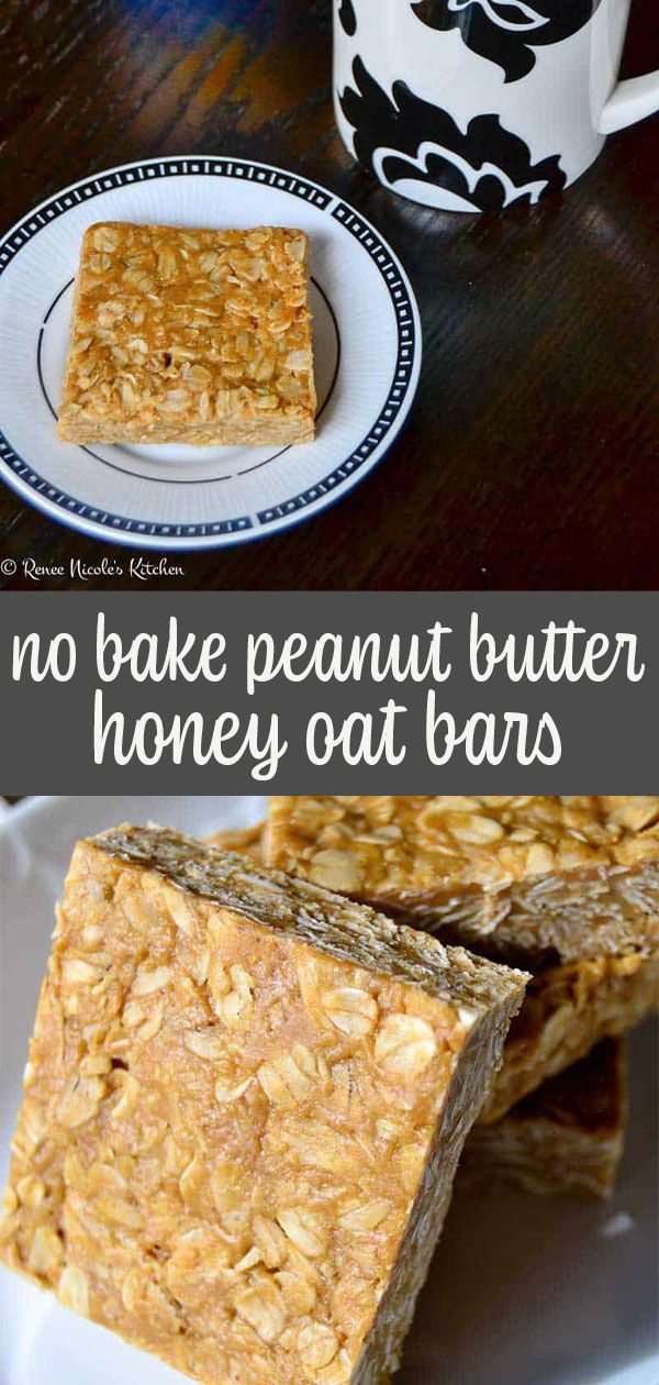 No Bake Peanut Butter Oatmeal Bars - Renee Nicole's Kitchen