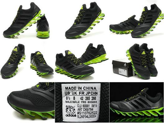 Adidas Springblade Drive 2 m Black and Green Men's Running