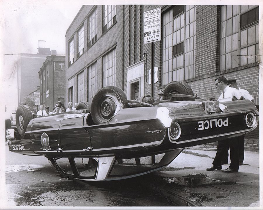 1964 Ford Custom Baltimore Police Car Accident Classic