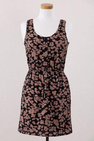 Animal print, banded-back dress