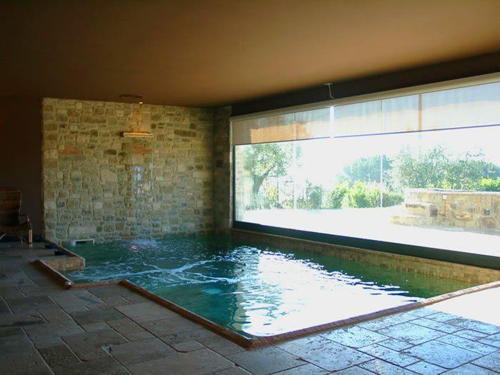 Indoor pool at villa trasimeno a small luxury villa in for Private pool design