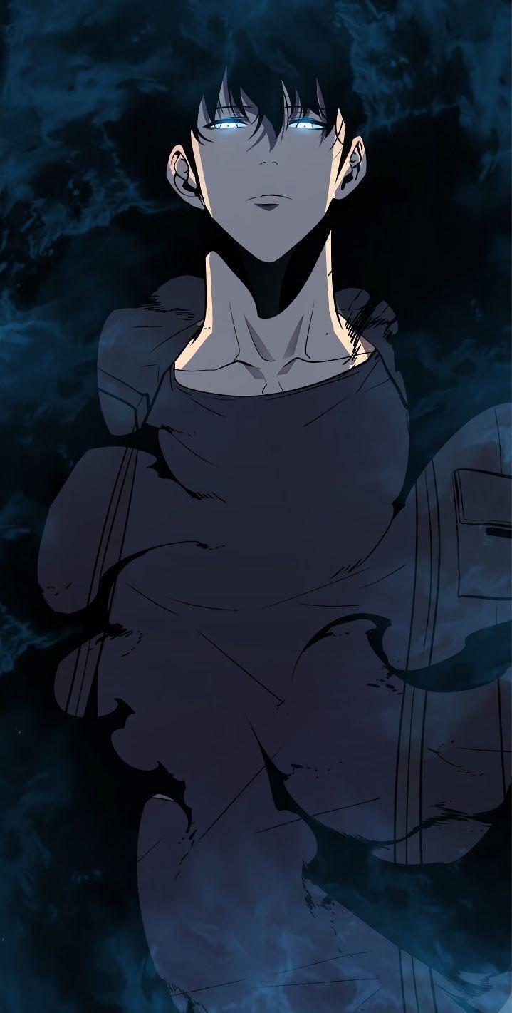 anime guy shadow art