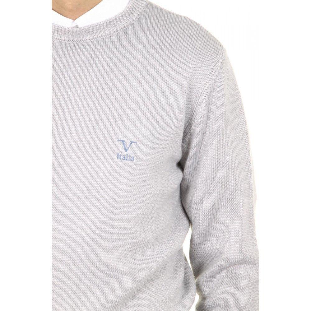 Grey XXL Versace 19.69 Abbigliamento Sportivo Milano mens round neck sweater 9802 GIROCOLLO GRIGIO MEDIO
