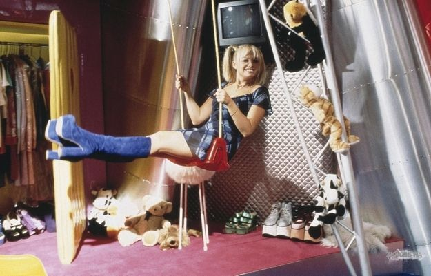 Baby Spice's platform shoe collection