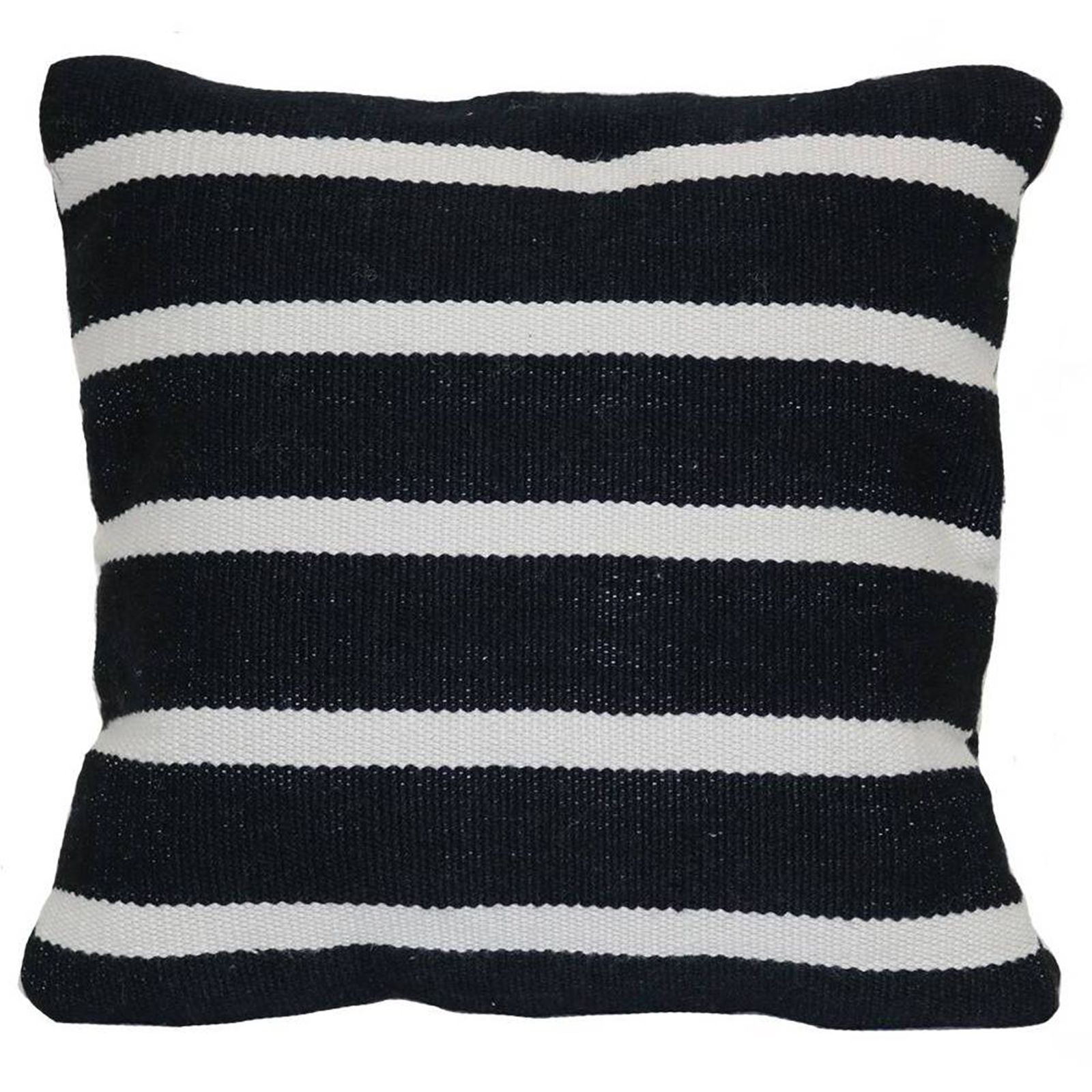 Fabulous Black + White Outdoor Finds at Target - Woven Narrow Stripe Pillow